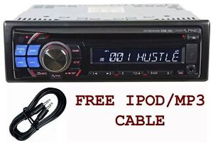 Alpine-CDE-121-In-Dash-Car-Stereo-CD-MP3-USB-Player-AM-FM-Receiver-Aux-Cable