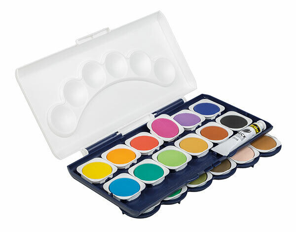 Idena Deckfarbkasten 24er Farbkasten Wasserfarbe Tuschkasten Malkasten