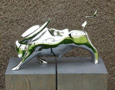 Ausgefallene MODERN ART Chrom STIER Bull Fight, M. Klein