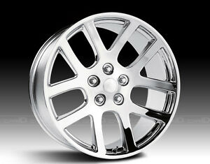 "20"" Replica SRT10 Wheel Set Dodge Ram 1500 Chrome Rims Wheels 20"