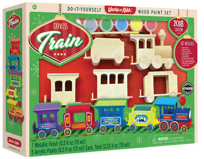 MasterPieces Works of Ahhh Express Train Real Wood Paint Kit 2018 Edition for sale  Shipping to India