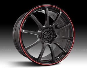 !!!BRAND NEW GLOSS BLACK/RED STRIPE 5 BOLT 18 INCH RIM $890!!
