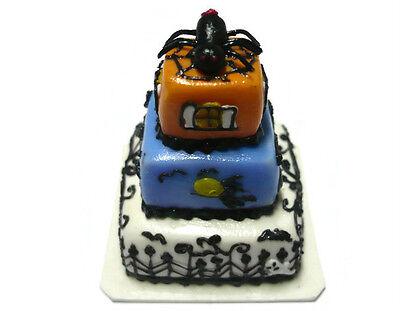 Dolls House Miniatures 3 Tiers Halloween Cake  Food  Art  Decor  Holiday-2