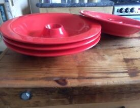 Funky Set of 4 Doctor Spaghetti plates