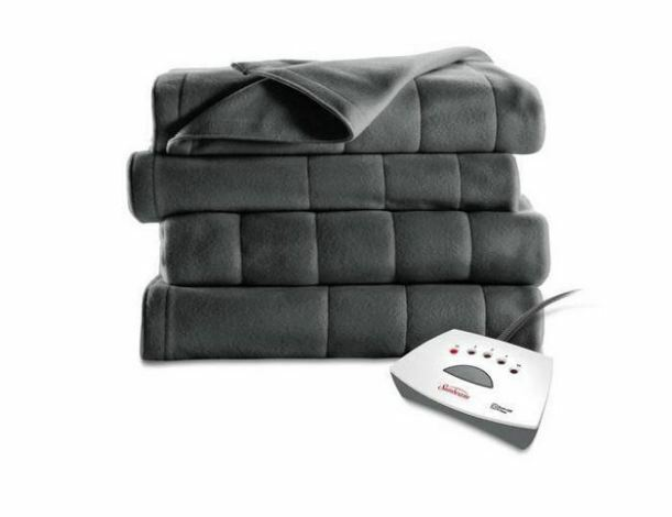 Sunbeam Heated Blanket Twin Size Electric Fleece Warming Win