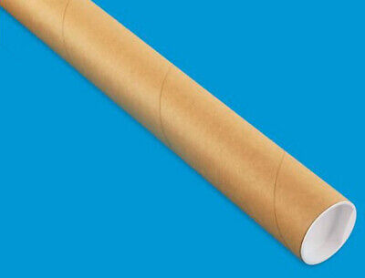 1 Mailing Tube With End Caps 2 X 24 Shipping Poster Artwork Print Packing