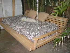 6-ft-Wood-Wooden-Suspended-Twin-Size-Swing-Bed-Cypress-Furniture-Swings-USA