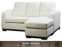 BRAND NEW!! BONDED LEATHER SOFA WITH REVERSIBLE CHAISE