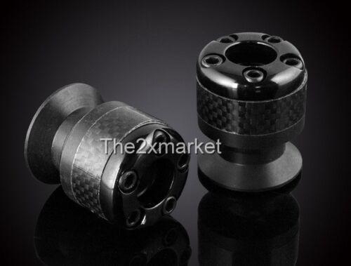 US Ship CNC 10mm Black Carbon fiber Swingarm Sliders Spools For KTM 690 SMC/Duke