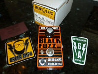 Boutique effects pedals: Nick Greer Amps Black Fuzz - 18th Anniversary model.