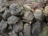 rockery stones for garden,random weights and shapes, £1 each, or bulk offers.