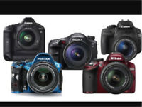 WANTED dogital dslr camera in good as well ad faulty condition