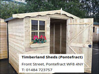 loglap garden shed, tongue and groove, tantalised