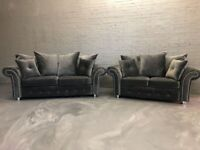 SAME & NEXT DAY DELIVERY AVAILABLE ** NEW ASHWIN CORNER SOFA OR 3+2 SOFA SET**