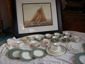 Large Collection Antique Vintage China