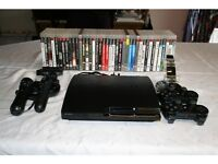 Playstation 3 slim 250GB +41 Games + Ps move + 2 controllers