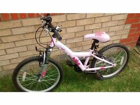 "Girls 20"" Pink Bike Age 7-9yrs"