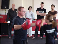 Kick Boxing Self Defense at a price you can afford Just £5 a session Adult or Child