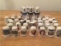 Sewing thimbles collection (46 in total)