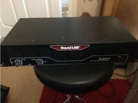 SoundLab G097 180Watt Power Amp - Can be heard working