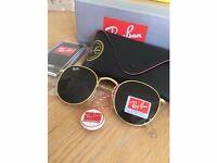 Ray Ban (Rayban) Mens Womens Unisex Sunglasses Black Gold