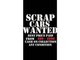 WANTED SCRAP CARS VANS TRUCKS MOT FAILURE SAME