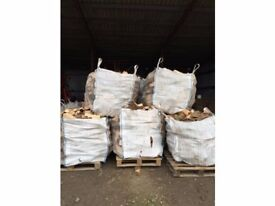 Logs/firewood for sale. Cubic metre bags of softwood. Free delivery to local area.