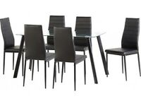 Glass Dining Table - Chairs not included