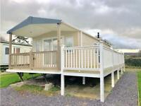 LUXURY CARAVAN 2BED LODGE FOR SALE WITH FULL WRAPPER ROUND DECKING NORTH WALES