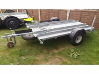 MOTORBIKE TRAILER 1 OR 2 MOTORCYCLE BIKE TRACK DAY SPORTS CLASSIC TWIN RACE