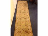 Embroidered Floral Runner Rug