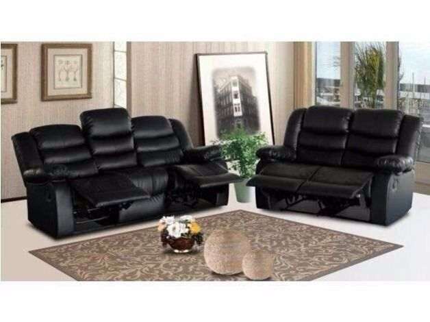 Amazing Roma Black Or Brown Recliner Cupholder 3 2 Sofa Set Free Uk Delivery Zone 1 Home Setup Brand New In Highgate West Midlands Gumtree Theyellowbook Wood Chair Design Ideas Theyellowbookinfo
