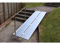 Metal ramp 8ft long folds lengthwise