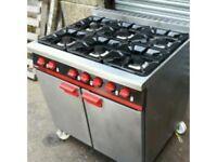 BARTLETT 6 Burner gas cooker on wheels Reconditioned works on Bottle gas