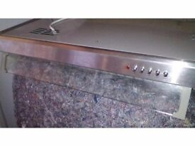 Brushed chrome extractor hood