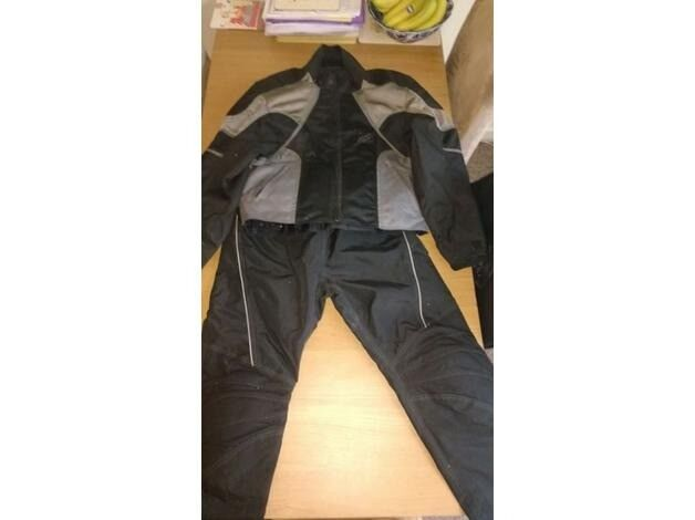 Motorcycle Jacket and Trousers size Large