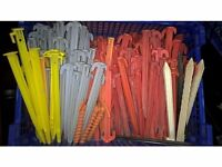 Used Tent Pegs