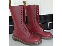 Dr Marten made in England 14 hole Oxblood boots. Size 7.