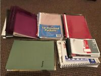 Lots of new and used notebooks and folders, all in good condition in Lancaster