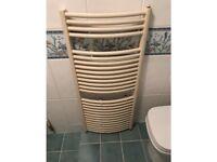Cream Curved Towel Radiator - Good Condition