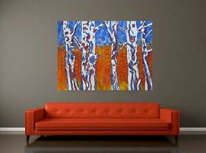 Abstract Trees Original acrylic paintings by Diane Soward
