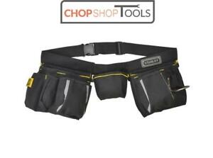 Stanley Padded Nail and Tool Belt Pouch Apron with Hammer Loop 1-96-178