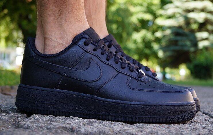 Details zu Schuhe Nike AIR FORCE 1 Herren Exclusive Sneaker Turnschuhe Schwarz 315122001