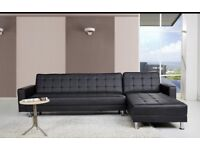 BRAND NEW SPENCER CORNER SOFA BED WITH INTERCHANGING CHAISE!!!
