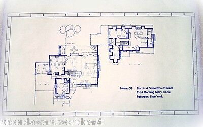 Bewitched Tv Show House Home 1164 Morning Glory Circle Blueprints 24  X 36