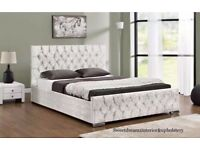 GERMAN MANUFACTURED STUNNING CHESTERFIELD OTTOMAN BED IN KING SIZE **SAME DAY DELIVERY**