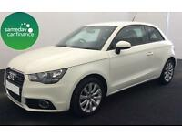 ONLY £216.84 PER MONTH WHITE 2012 AUDI A1 1.6 TDI SE 3 DOOR DIESEL MANUAL