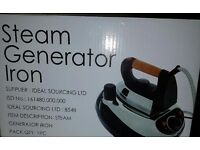 STEAM GENERATOR IRON, BRAND NEW IN BOX, UNWANTED GIFT.