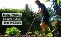 MOW VALUE LAWN CARE service for weekly mowing
