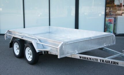 10X5 10X6 HEAVY DUTY BOX TRAILER GALVANISED BRAKED CAGE OPTIONAL